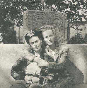 Diego Rivera, 'Frida And Emmy Lou Packard, Coyoacán, Mexico', 1941