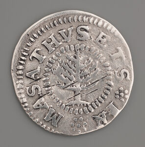 John Hull and Robert Sanderson, Sr., 'Pine Tree Shilling', 1667-1682