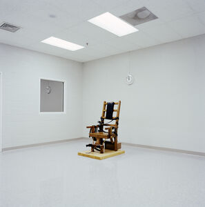 Lucinda Devlin, 'Electric Chair, Greensville Correctional Facility, Greensville, VA', 1991