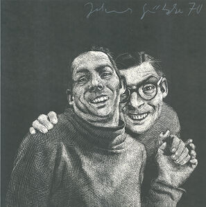 Johannes Grützke, 'Zwei Männer', 1970