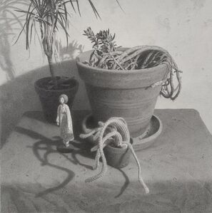 Lewis Chamberlain, 'Lady with house plants', 2021