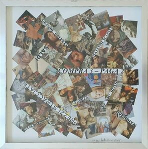 Nanni Balestrini, 'Compra 3 - Paga 2', 2005