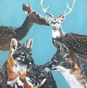Myasia Dowdell, 'Deer and Foxes', 2017