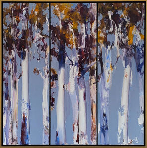 Ken Knight, 'Blue and Gold - Dancing Gums, Triptych', ca. 2020