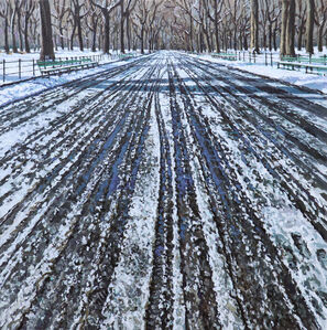Richard Combes, 'Snow Tracks in Central Park', 2019