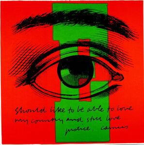 Corita Kent, 'E eye love', 1968