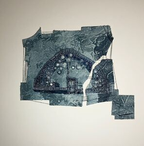 Cecilia Villanueva, 'Reparations, Chaco Culture National Historical Park, New Mexico, Aerial view, North American Indians, blue, archaeological, geology, history, post modern art, environmentalist, climate change', 2019
