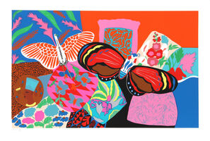 Hunt Slonem, 'Bird and Butterfly', 1980