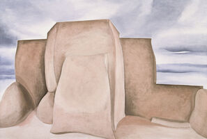 Georgia O'Keeffe, 'Ranchos Church, New Mexico', 1930-1931
