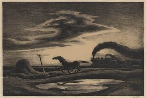 Thomas Hart Benton, 'The Race (Fath 56)', 1942