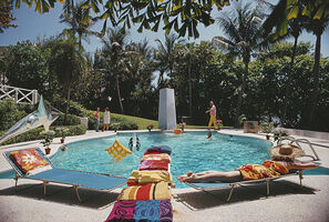 Slim Aarons, 'Pool at Four Winds', April 1968