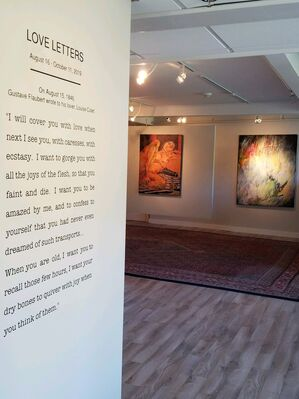 """LOVE LETTERS: """"I will cover you with love when next I see you ...""""*, installation view"""