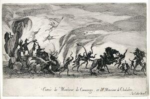Le Combat a La Barriere (The Combat at the Barrier)