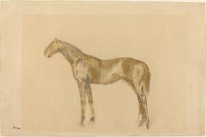 Edgar Degas, 'Horse', ca. 1890