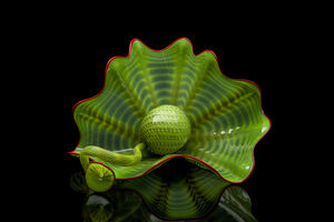 Dale Chihuly, 'Dale Chihuly Green Persian Set Handblown Glass Contemporary Art', 2001