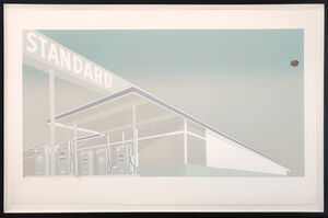 Ed Ruscha, 'CHEESE MOLD STANDARD WITH OLIVE', 1969