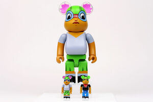 Hebru Brantley, 'Bearbrick Lil Mama 400% + 100% Flyboy & Lil Mama Bearbricks', 2019