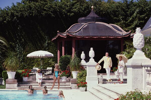 Slim Aarons, 'Pagoda Poolhouse (Slim Aarons Estate Edition)', 1985