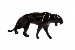 Richard Orlinski, 'Glossy Black Panther'