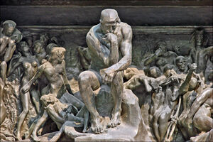 Auguste Rodin, 'The Gates of Hell (Detail: The Thinker)', 1902