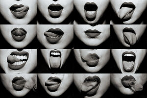 Tyler Shields, 'Mouthful (B&W)', 2020