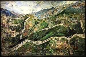 Vik Muniz, 'The Great Wall of China (Postcards from Nowhere)', 2014