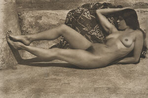 Edward Weston, 'Untitled (Tina on the Azotea, with Kimono)', 1924