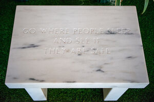 Jenny Holzer, 'Selection from Survival; Go Where People Sleep', 2006