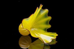 Dale Chihuly, 'Dale Chihuly  Buttercup Persian Sold Out Limited Portland Press Glass Sculpture', 1996
