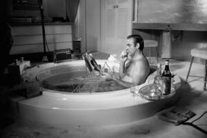 Terry O'Neill, 'Scottish actor Sean Connery as James Bond taking a bath during the filming of 'Diamonds Are Forever', 1971.', 1977