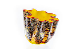 Dale Chihuly, 'Dale Chihuly Original Yellow Macchia Series Prototype Glass Contemporary Art 8500 appraisal ', 2004