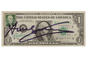 Andy Warhol, '$1 Bill'