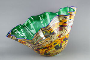Dale Chihuly, 'Emerald Macchia with Indigo Lip', 2000