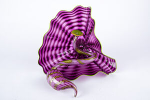 Dale Chihuly, ' Dale Chihuly Original Amethyst 2 Piece Persian Set Contemporary Handblown Glass Art', 2005