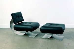 Oscar Niemeyer, 'Alta Fauteuil et ottoman', vers 1970