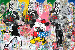 Mr. Brainwash, 'Einstein, Thrower and Mickey & Minnie', 2018