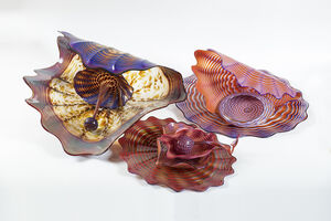 "Dale Chihuly, '9 Piece Pozzuoli Earth Persian Set one of Kind Massive 30"" Diameter', 1989"