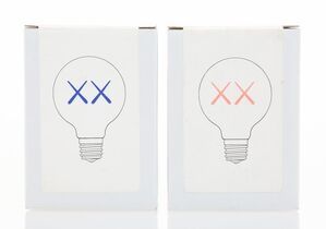 Light Bulbs for The Standard (Red and Purple), (two works)