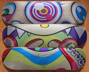 Original Flower Drawing on skateboard set of 3