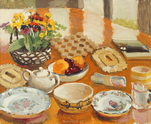 Field Flowers, Fruit and Dishes
