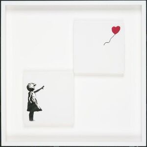 Girl With Balloon (Diptych)