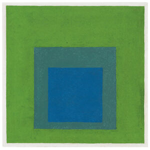 Squares: Blue and Cobalt Green in Cadmium Green