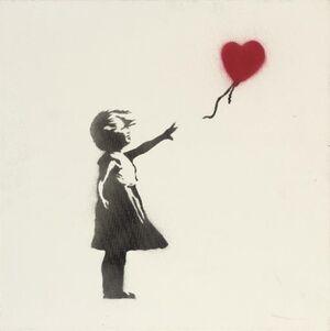 Girl with Balloon (Single Canvas)