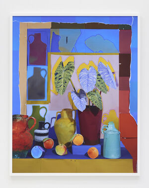 Still Life with Oranges, Vessels and House Plant