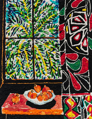 Metachrome (Interior with Egyptian Curtain, after Matisse)
