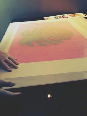 Pink Intervention, installation view
