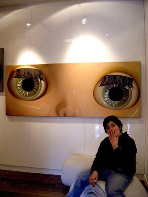 close-ups of the eyes by Yoshihiro Fujita, installation view
