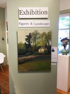 """""""Figures and Landscapes"""" with artists Jayne Adams and Jan Waldron, installation view"""