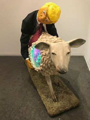 The Old Man and the Sheep, installation view