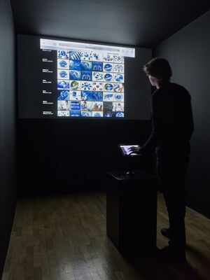 Electronic Superhighway (2016 – 1966), installation view